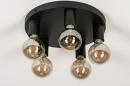 Plafondlamp 74011: industrie, look, modern, metaal #4