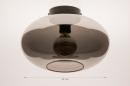 Plafondlamp 74016: modern, retro, eigentijds klassiek, art deco #6