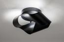 Plafondlamp 74027: modern, retro, metaal, zwart #1