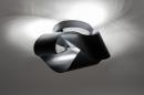 Plafondlamp 74027: modern, retro, metaal, zwart #2