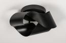 Plafondlamp 74027: modern, retro, metaal, zwart #3