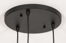 Plafondlamp 74036: modern, retro, glas, metaal #11