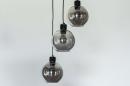 Plafondlamp 74036: modern, retro, glas, metaal #12