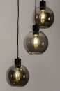 Plafondlamp 74036: modern, retro, glas, metaal #4