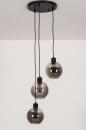 Plafondlamp 74036: modern, retro, glas, metaal #5