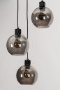 Plafondlamp 74036: modern, retro, glas, metaal #6