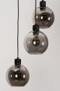 Plafondlamp 74036: modern, retro, glas, metaal #7