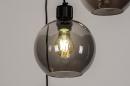 Plafondlamp 74036: modern, retro, glas, metaal #8