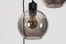 Plafondlamp 74036: modern, retro, glas, metaal #9