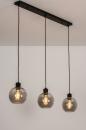 Hanglamp 74037: modern, retro, glas, metaal #1
