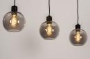 Hanglamp 74037: modern, retro, glas, metaal #2