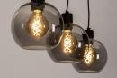 Hanglamp 74037: modern, retro, glas, metaal #4