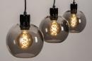 Hanglamp 74037: modern, retro, glas, metaal #5