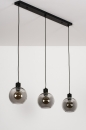 Hanglamp 74037: modern, retro, glas, metaal #7