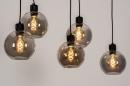 Hanglamp 74038: modern, retro, glas, metaal #2