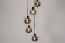 Hanglamp 74039: modern, retro, glas, metaal #1