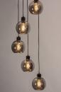 Hanglamp 74039: modern, retro, glas, metaal #3