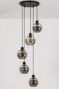 Hanglamp 74039: modern, retro, glas, metaal #5