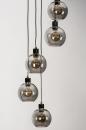 Hanglamp 74039: modern, retro, glas, metaal #6