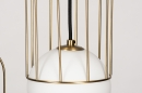 Hanglamp 74046: modern, glas, wit opaalglas, messing #10