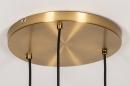 Hanglamp 74046: modern, glas, wit opaalglas, messing #11