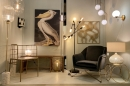 Hanglamp 74046: modern, glas, wit opaalglas, messing #12