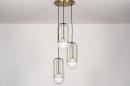 Hanglamp 74046: modern, glas, wit opaalglas, messing #5