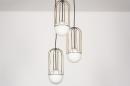 Hanglamp 74046: modern, glas, wit opaalglas, messing #6