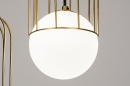 Hanglamp 74046: modern, glas, wit opaalglas, messing #8
