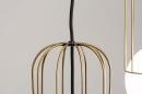 Hanglamp 74046: modern, glas, wit opaalglas, messing #9
