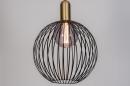 Hanglamp 74112: modern, eigentijds klassiek, art deco, metaal #4
