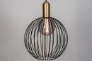 Hanglamp 74112: modern, eigentijds klassiek, art deco, metaal #5