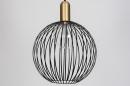 Hanglamp 74112: modern, eigentijds klassiek, art deco, metaal #7