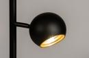 Vloerlamp 74113: modern, retro, metaal, zwart #7
