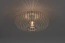 Plafondlamp 74117: modern, retro, metaal, wit #1