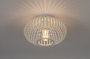 Plafondlamp 74118: modern, retro, metaal, wit #1