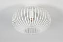 Plafondlamp 74118: modern, retro, metaal, wit #2