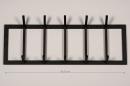 Kapstok 74123: modern, staal rvs, zwart, mat #1
