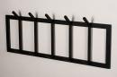 Kapstok 74123: modern, staal rvs, zwart, mat #3