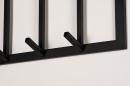 Kapstok 74123: modern, staal rvs, zwart, mat #4