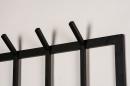 Kapstok 74123: modern, staal rvs, zwart, mat #5