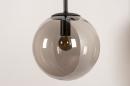 Wandlamp 74128: modern, retro, glas, metaal #5