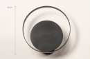 Wandlamp 74133: modern, retro, metaal, zwart #1