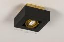 Plafondlamp 74134: design, modern, metaal, zwart #1