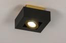 Plafondlamp 74134: design, modern, metaal, zwart #2