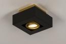 Plafondlamp 74134: design, modern, metaal, zwart #3