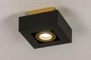 Plafondlamp 74134: design, modern, metaal, zwart #4