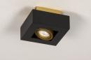 Plafondlamp 74134: design, modern, metaal, zwart #6