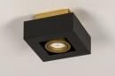 Plafondlamp 74134: design, modern, metaal, zwart #7