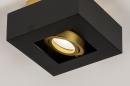 Plafondlamp 74134: design, modern, metaal, zwart #8
